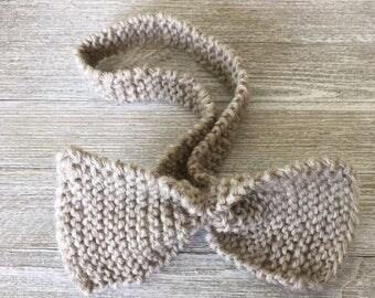 Girls Knit Headband; Baby Girls Knit Headband; Toddler Girls Knit Headband; Girls Knit Hairbow
