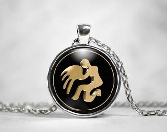 Aquarius Zodiac Sign Necklace - Aquarius Astrological Jewelry