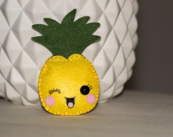 Mini pineapple stuffed felt