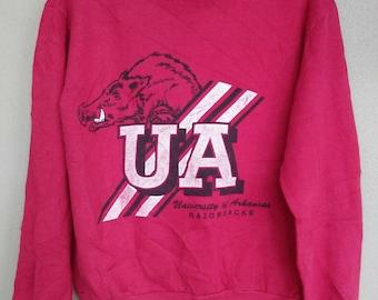 "Vintage "" University Of Arkansas "" Razorbacks sweatshirts"