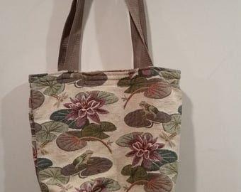 Old lady//Grandma pond print carpet tote bag