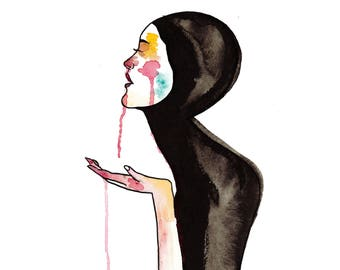 Some Occasion - Minimal Illustration Art Print - Watercolor Painting By Janelle Cordero