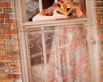 Girl Reading (Vintage) - 8x10 print