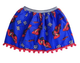 Girls' Racing Car Skirt