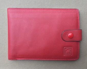 Genuine Unused Red Leather Rolex Wallet