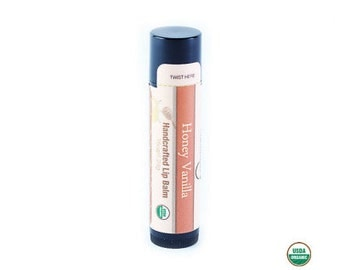 Lip Balm | USDA Organic Honey Vanilla with Moisturizing Coconut Oil and Shea Butter - FREE SHIPPING