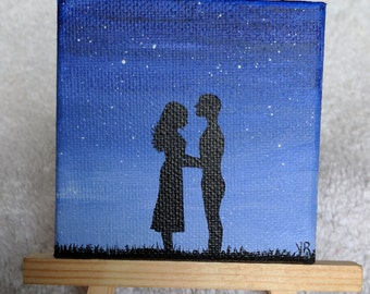 You're The One, Love, couple, mini painting gift