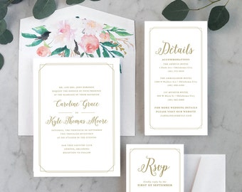 Timeless Grace Wedding Invitations
