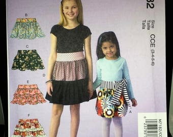 McCall's 7182 - Girls' Skirts