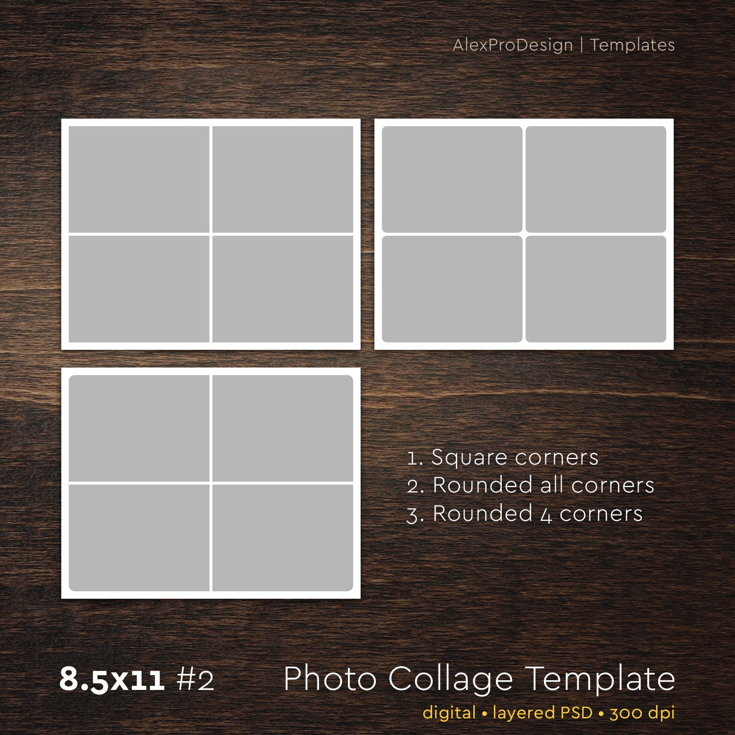 photo collage template 8 5 x 11 2 4 photo storyboard template