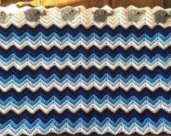 Crochet Elephant March Blanket
