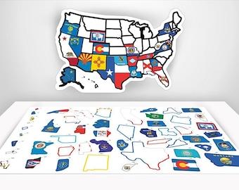 US Travel Decal RV Sticker X Inches RV - Us state sticker map