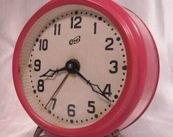 Vintage Soviet Table Alarm Clock OChZ USSR