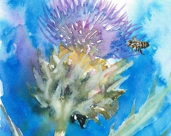 Cardoon with Bee