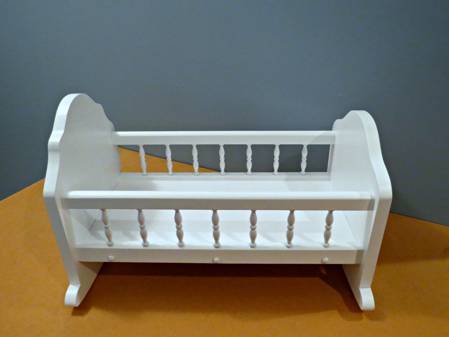Handcrafted Wooden Doll Cradle