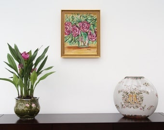 framed painting oil painting _ flowers