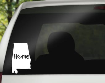 Alabama Decal, State Decal, Alabama Car Decal, Alabama Home Decal, State Car Decal, Laptop Decal, Tumbler Decal, Water Bottle Decal