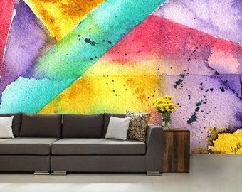 3D ABSTRACT MURAL, abstract wall mural, color wall mural, painting mural, self-adhesive vinly, paint wall mural, abstract wallpaper, abstrac