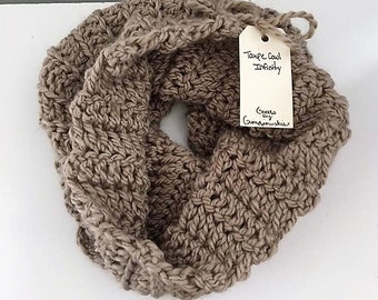 Taupe Cowl Infinity