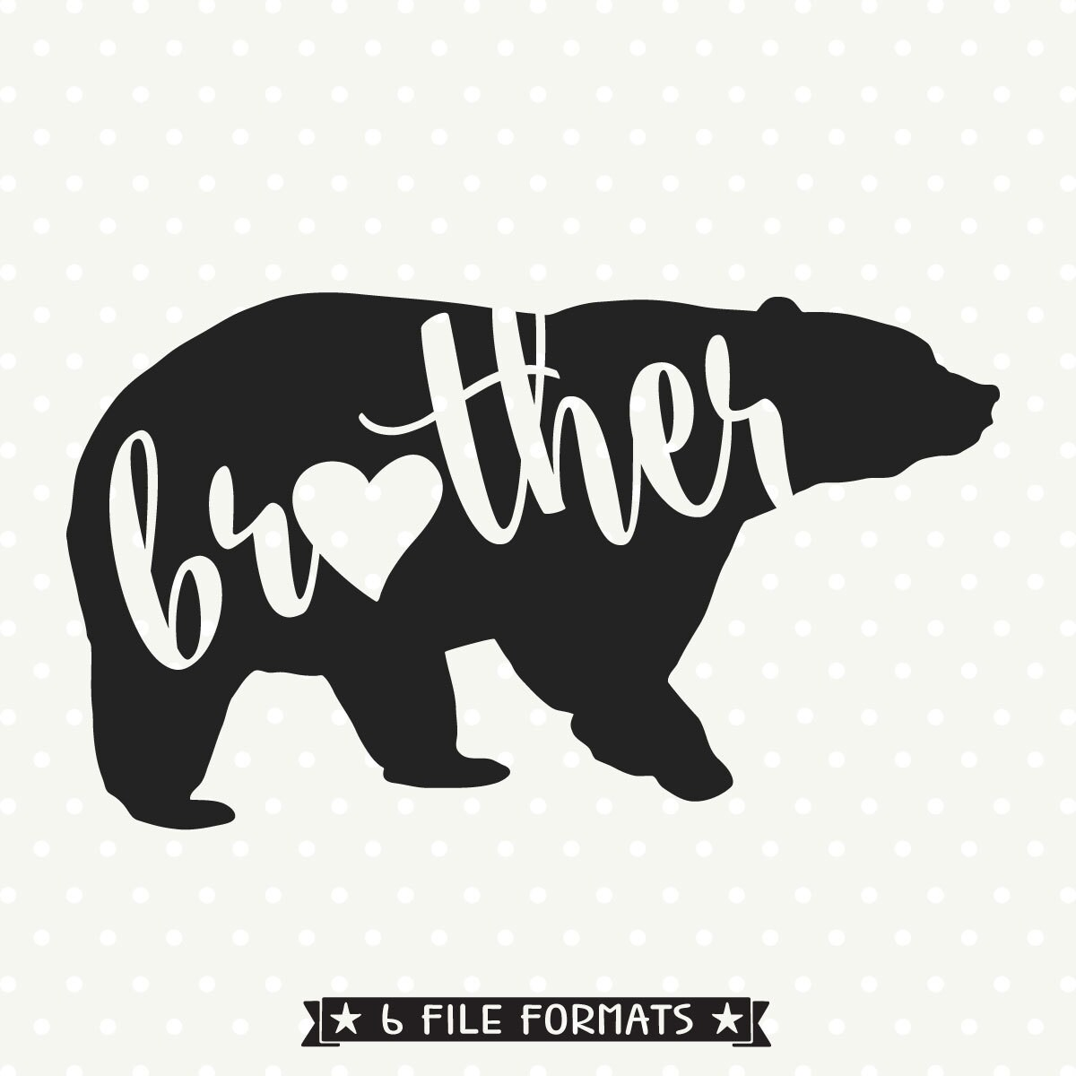 Bear Family Svg File Brother Bear Svg File Bear Dxf File