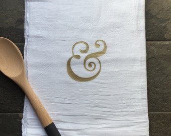 Ampersand tea towel, kitchen towel