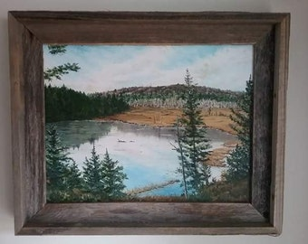 """Original Oil Painting on stretched canvas-""""Adirondack Pond"""""""