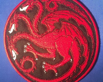 Targaryen Sigil Dire Wolf Patch (Game of Thrones)