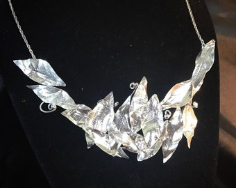 Sterling silver leaves