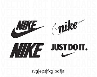Nike Inspired Logo 4 Pack Vector Art, svg pdf dxf eps ai format download