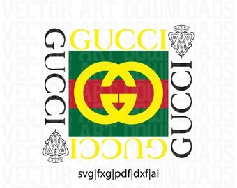 Gucci Vintage Inspired Logo Vector Art, svg dxf fxg pdf ai format download
