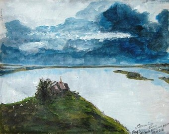 Isaac Levitan-Eternal Rest,Russian Landscape,Russian Fine Art,Museum Quality Handmade,Acrylic Painting reproductions,FREE SHIPPING!