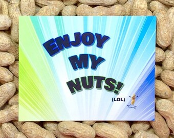 Enjoy My Nuts! / Gag Gift / Gift for Her / Gift for Him / Funny Cards / Prank Gift / Nuts / Sex Cards / Dirty Naughty Cards/ Novelty gift