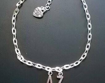 Initials Silver Anklet / bracelet