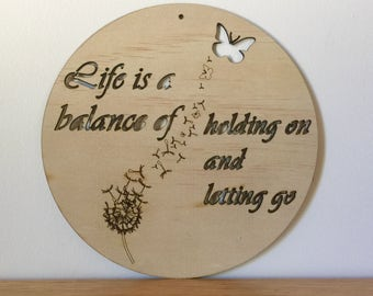 Life is a Balance, Wall Banner, Home Decor