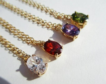 Cubic zirconia Oval necklace