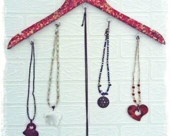 Jewellery hanger, Necklace hanger, jewellery stand, jewelry organizer, necklace holder, jewelry holder, necklace storage, jewelry storage