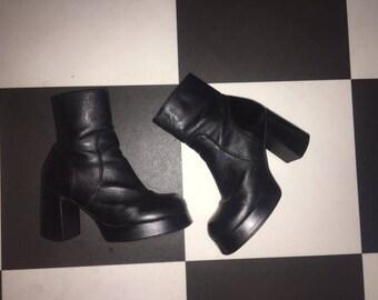 90s Vintage Chunky Platform Boots Steve Madden