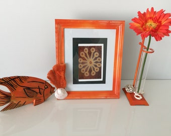 Photo frame, Coastal, nautical, Sea shell decor