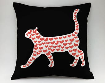 Cat pillow case Decorative pillow Throw pillow cover kitty pillow kitten pillow kitty pillow animal pillow Cat Lover Gift cat print pillow