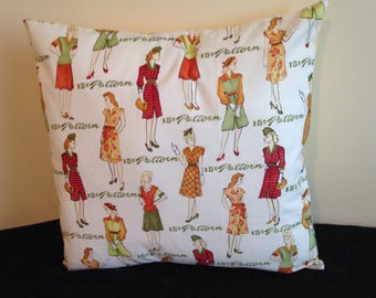 Vintage design cushion cover