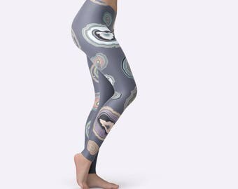Festival Leggings, Yoga Print Tights, Unique Yoga Leggings, Boho Yoga Leggings, Patterned Tights, Pilates Leggings, Workout Womens Pants