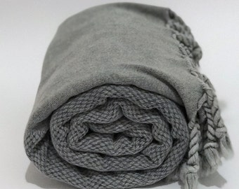 Stonewashed turkish towel, Turkish towel, cotton turkish towel,hammam towel, peshtemal, bath towel, grey turkish towel, yoga towel, spa- gym