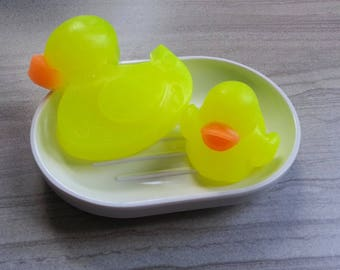 Duck Soap, Kids Gift Set, Rubber Ducky Theme, Duckie Party, Baby Animal, Bird Decoration, Custom Glycerin Soap, Unique Novelty Gift (6 oz)