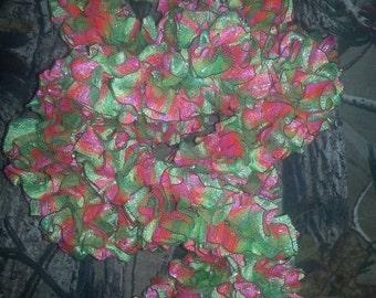 Shimmering Infinity Ribbon scarf