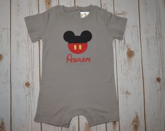 Mickey Mouse Romper- Portion of Sales Donated to Cure SMA