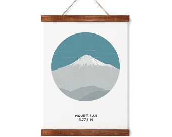 Mount Fuji, Japan, Mountain print, A4 print, Gifts for him or her