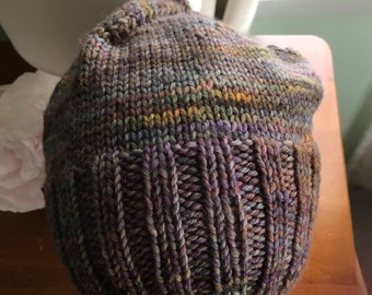 Malibrigo hand dyed pure merino | woollen slouchy beanie | for him or her