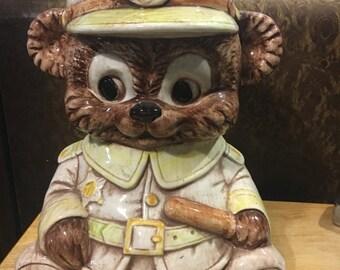 Police Chief Bear Cookie Jar / Treasure Craft