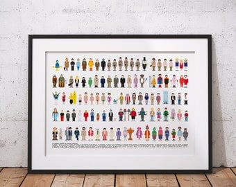 Deco poster - locker room of the famous comedy films - 70 x 50