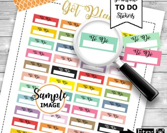 To Do Stickers, Printable To Do Planner Stickers, Reminder Stickers, Agenda Stickers